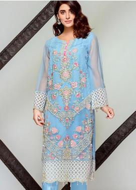 Tresor by Adan's Libas Embroidered Cotton Net Unstitched 2 Piece Suit AL20T D-11 - Festive Collection