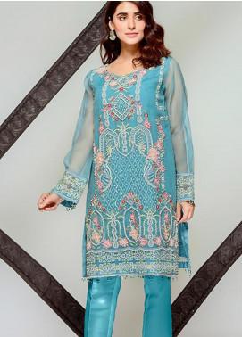 Tresor by Adan's Libas Embroidered Cotton Net Unstitched 2 Piece Suit AL20T D-13 - Festive Collection