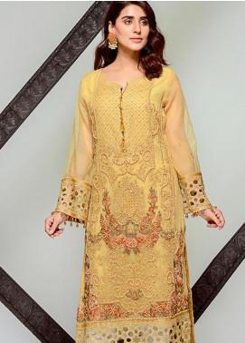 Tresor by Adan's Libas Embroidered Cotton Net Unstitched 2 Piece Suit AL20T D-15 - Festive Collection