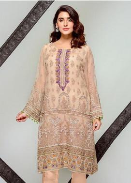 Tresor by Adan's Libas Embroidered Cotton Net Unstitched 2 Piece Suit AL20T D-17 - Festive Collection