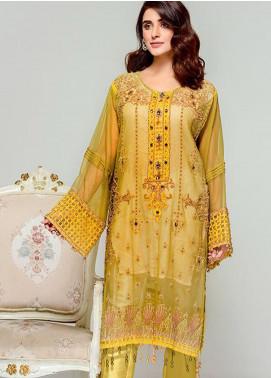 Tresor by Adan's Libas Embroidered Cotton Net Unstitched 2 Piece Suit AL20T D-18 - Festive Collection