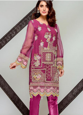 Tresor by Adan's Libas Embroidered Cotton Net Unstitched 2 Piece Suit AL20T D-19 - Festive Collection