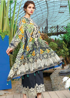 Peridot Embroidered Lawn Unstitched 3 Piece Suit PD18L 107 - Spring / Summer Collection