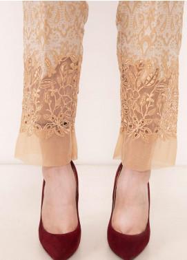 Kross Kulture Textured Jamawar Stitched Trousers TR-198066 B Golden