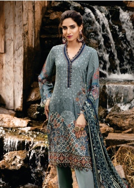 Tulip by Mohagni Embroidered Viscose Unstitched 3 Piece Suit TMO19W 07 - Winter Collection
