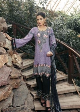 Tulip by Mohagni Embroidered Viscose Unstitched 3 Piece Suit TMO19W 09 - Winter Collection