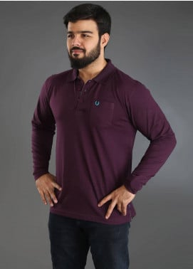 UC Clothing Jersey Polo Men Shirts - Maroon UC18PS 02