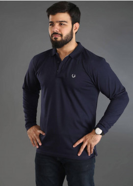 UC Clothing Jersey Polo Shirts for Men - Navy Blue UC18PS 03