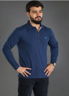 UC Clothing Jersey Polo Men Shirts - Blue UC18PS 04