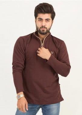 UC Clothing Jersey Full Sleeves T-Shirts for Men -  01 Maroon