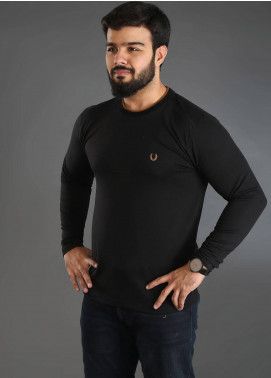 UC Clothing Jersey Plain Texture T-Shirts for Men - Black UC18TS 01