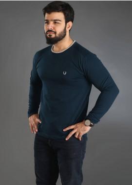 UC Clothing Jersey Plain Texture Men T-Shirts - Green UC18TS 02
