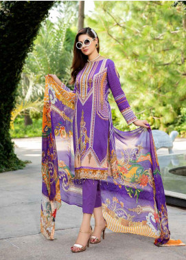 Umang by Motifz Embroidered Lawn Unstitched 3 Piece Suit UMT20L 2519 Violet - Summer Collection