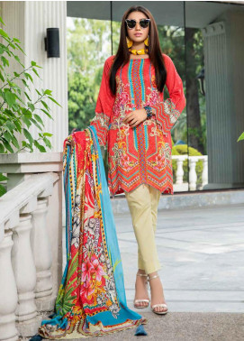 Umang by Motifz Embroidered Lawn Unstitched 3 Piece Suit UMT20L 2554 Rasberry - Summer Collection