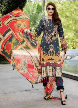 Umang by Motifz Embroidered Lawn Unstitched 3 Piece Suit UMT20L 2555 Black - Summer Collection