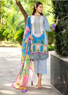 Umang by Motifz Embroidered Lawn Unstitched 3 Piece Suit UMT20L 2556 Pastel - Summer Collection