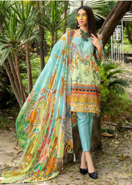 Umang by Motifz Embroidered Lawn Unstitched 3 Piece Suit UMT20L 2558 Sky Blue - Summer Collection