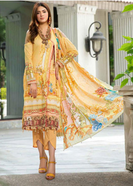Umang by Motifz Embroidered Lawn Unstitched 3 Piece Suit UMT20L 2559 Pumpkin - Summer Collection