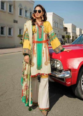 Umang by Motifz Embroidered Lawn Unstitched 3 Piece Suit MT20U 2515 - Summer Collection