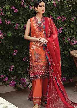 Vaada by Republic Womenswear Embroidered Lawn Unstitched 3 Piece Suit RW20V 05-B ZEBAYISH - Eid Collection