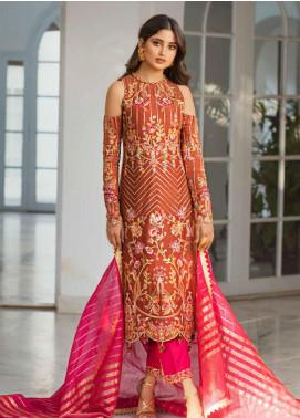 Vasl by Asim Jofa Embroidered Cotton Net Unstitched 3 Piece Suit AJ20LF 01 - Luxury Collection