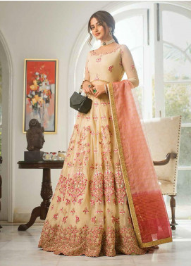 Vasl by Asim Jofa Embroidered Tulle Unstitched 3 Piece Suit AJ20LF 02 - Luxury Collection