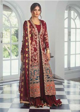 Vasl by Asim Jofa Embroidered Cotton Net Unstitched 3 Piece Suit AJ20LF 05 - Luxury Collection