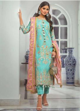 Vasl by Asim Jofa Embroidered Raw Silk Unstitched 3 Piece Suit AJ20LF 10 - Luxury Collection
