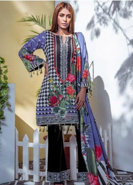 Vasl by Fitoor Printed Cambric Unstitched 3 Piece Suit FT20VL D-12 - Festive Collection
