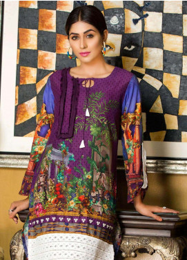 Veena Durrani Printed Lawn Unstitched Kurties VD18K 03 - Summer Collection