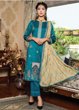 Versatile by MTF Embroidered Cotton Unstitched 3 Piece Suit MTF20V 04 - Formal Collection