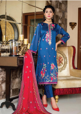 Versatile by MTF Embroidered Cotton Unstitched 3 Piece Suit MTF20V 05 - Formal Collection