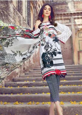Vesttire Embroidered Lawn Unstitched 3 Piece Suit VS19F-21 Retro Diva - Festive Collection