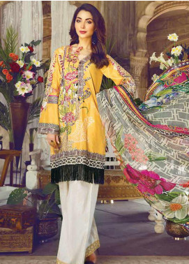 Vesttire Embroidered Lawn Unstitched 3 Piece Suit VS19F-24 OCHRE MELANCHOLY - Festive Collection