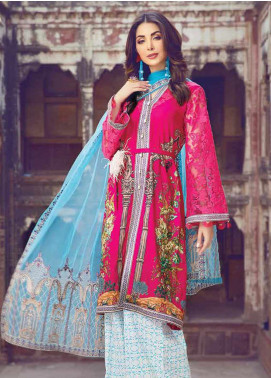 Vesttire Embroidered Lawn Unstitched 3 Piece Suit VS19F-27 CRIMSON TROPICS - Festive Collection