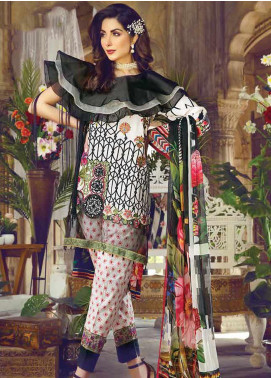Vesttire Embroidered Lawn Unstitched 3 Piece Suit VS19F-29 NOIR COMBO - Festive Collection