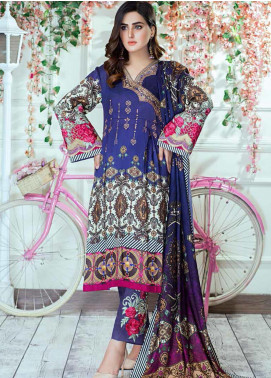 Vesttire Embroidered Cottel Linen Unstitched 3 Piece Suit VS19W 0033 MIDNIGHT ROMANCE - Winter Collection