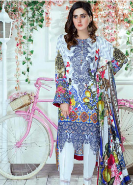Vesttire Embroidered Cottel Linen Unstitched 3 Piece Suit VS19W 0034 WINTER BLOOMS			 - Winter Collection