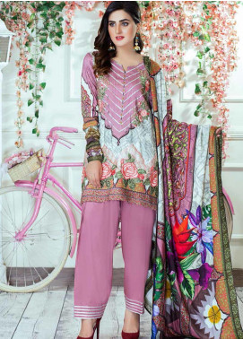 Vesttire Embroidered Cottel Linen Unstitched 3 Piece Suit VS19W 0035 AFTER SUNSET - Winter Collection