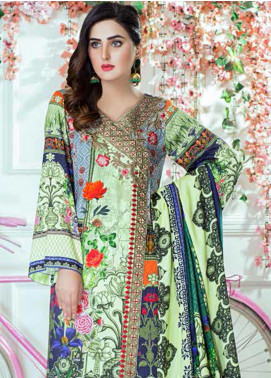 Vesttire Embroidered Cottel Linen Unstitched 3 Piece Suit VS19W 0036 FUN SWIRLS			 - Winter Collection