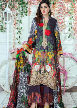 Vesttire Embroidered Cottel Linen Unstitched 3 Piece Suit VS19W 0040 FALL FOLIAGE			 - Winter Collection