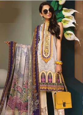 Anaya By Kiran Chaudhry Embroidered Lawn Unstitched 3 Piece Suit AKC19VL 13 VIOLA - Spring / Summer Collection