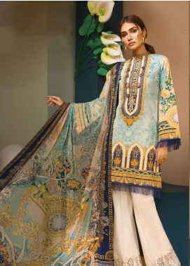 Anaya By Kiran Chaudhry Embroidered Lawn Unstitched 3 Piece Suit AKC19VL 14 GRACE - Spring / Summer Collection