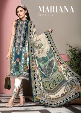 Viva by Anaya Embroidered Lawn Unstitched 3 Piece Suit V20AKC 01 B MARIANA - Summer Collection