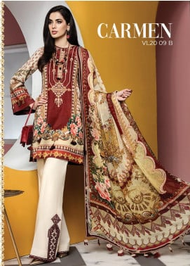 Viva by Anaya Embroidered Lawn Unstitched 3 Piece Suit V20AKC 09 B CARMEN - Summer Collection