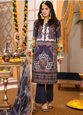 Zohan Textile Embroidered Lawn Unstitched 3 Piece Suit VOG19L 2 - Eid Collection