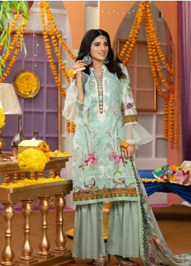 Zohan Textile Embroidered Lawn Unstitched 3 Piece Suit VOG19L 3 - Eid Collection