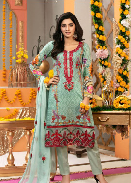 Zohan Textile Embroidered Lawn Unstitched 3 Piece Suit VOG19L 5 - Eid Collection
