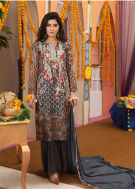 Zohan Textile Embroidered Lawn Unstitched 3 Piece Suit VOG19L 7 - Eid Collection
