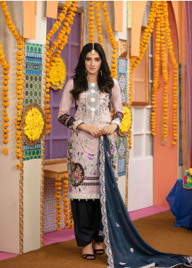 Zohan Textile Embroidered Lawn Unstitched 3 Piece Suit VOG19L 8 - Eid Collection